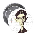 Franz Kafka Karikatür Rozet - Aylak Adam Hobi
