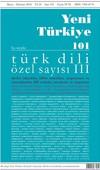 Yeni Türkiye Sayı 101-Türk Dili Özel Sayı 3