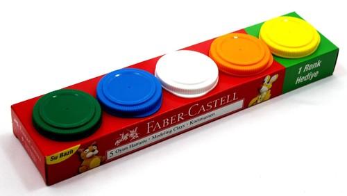 Faber-Castell Oyun Hamuru 5'li 225g