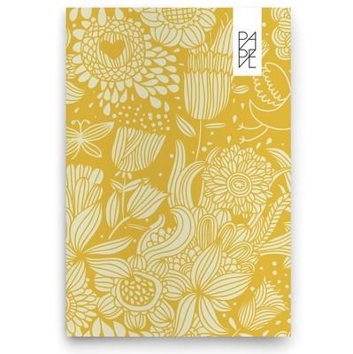 Pape Çiçekli 13x19cm Sarı