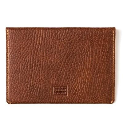 Leather&Paper Pasap. Kılıf Deri Kahve