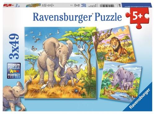 Ravensburger Wild Animals 3x49 Parça Puzzle (80038)
