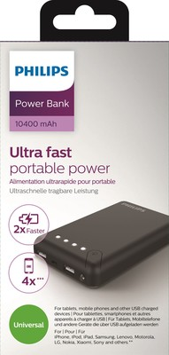 Philips 10400mAh Power bank 3.1A 2 USB  DLP10405/10