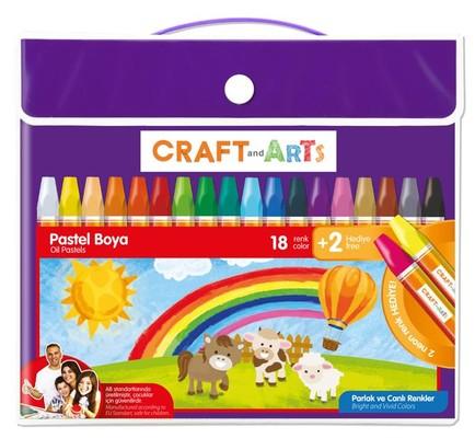 Craft&Arts Pastel Boya 18+2Li Çanta