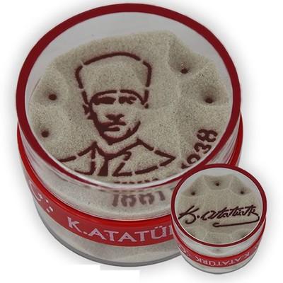 Big -Atatürk Resmi/Atatürk İmzası Kum