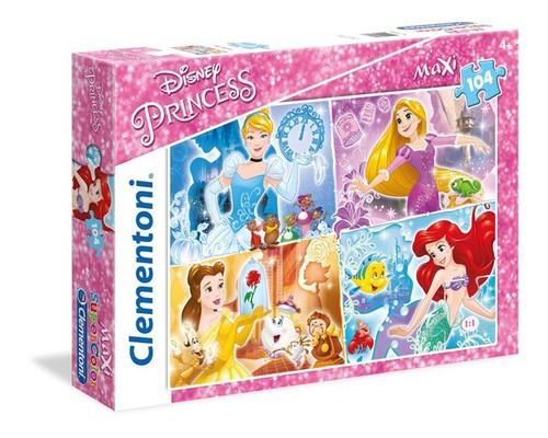 Clementoni- Maxi Princess 104 Parça Puzzle 23703