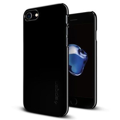 Spigen iPhone 7 Kılıf Thin Fit Ultra İnce Jet Black 042CS20845