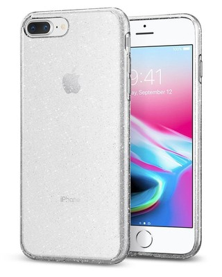 Spigen iPhone 7 Plus Kılıf,  Liquid Crystal Glitter Crystal Quartz 043CS21758