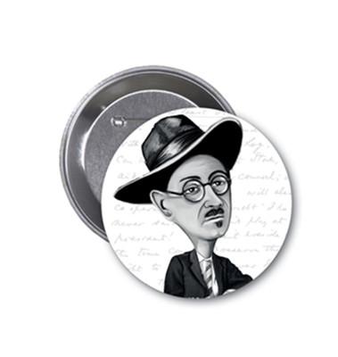Aylak Adam Hobi-James Joyce Karikatür Rozet