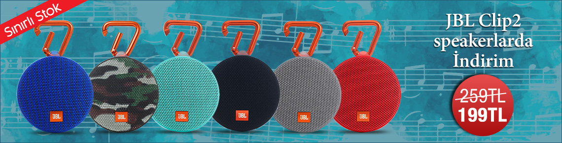 JBL Clip2 Speakerlarda İndirim
