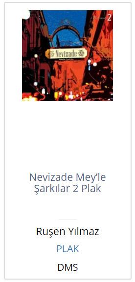 Nevizade Mey'le Şarkıları 2