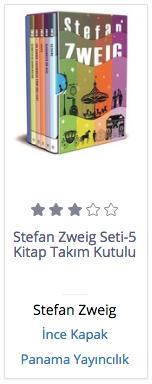 Stefan Zweig Seti-5 Kitap Takım Kut, Clz