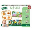 Educa 18123 3'lü Baby Puzzle Seti