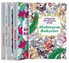 Maya Yetişkinler İçin Boyama Kitabı Seti - 4 Kitap Takım