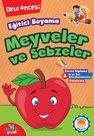 Eğitici Boyama - Meyveler ve Sebzeler Okul Öncesi