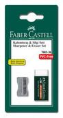 Faber-Castell Metal Kalemtras + 7085/30 Silgi Seti Blister - 5500185685