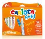 Carioca Süper Baby Süper Yikanabilir Keçeli Boya Kalemi 12'Li 42814