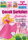 Çocuk Şarkıları - Cindrella CD+DVD(Boyama Kitabı Hediyeli)