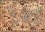 Educa Antique World Map 1000 Parça Puzzle - 15159