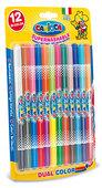 Carioca Çift Renkli Süper Yıkanabilir Keçeli Boya Kalemi 12'li (24 Renk) - 42265