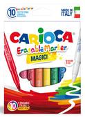 Carioca Laser Silinebilir Sihirli Keçeli Kalemler ( 9 Renk + 1 Düzeltici Beyaz Kalem) - 41238