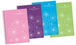 Faber-Castell Pp Kapak 4 Bölmeli Renkli Kenar Çizgi Defter, 80 Yaprak - 5075400141