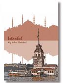 Deffter Istanbul / Kiz Kulesi 9,5X14 Sert Kapak 64421-6