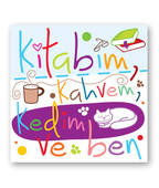 Big KAM 32 Kitabım Kahvem Kedim Mıknatıslı Kare Ayraç