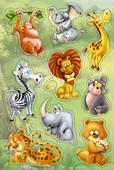 Herma Çocuk Etiketleri Karisik Sevimli Hayvanlar 3248