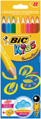 Bic Supersoft Kuru Boya 8'Li Kutu + Jumbo Kalem Tiras - 895921