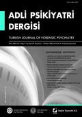 Adli Psikiyatri Dergisi - Cilt:2 Sayı:4 Ekim 2005