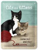 Nostalgic Art Cats and Kittens Metal Kabartmali Duvar Panosu (15x20 cm) 26124