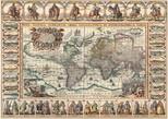 Art Puzzle Eski Dünya Haritasi  4711 2000 Lik