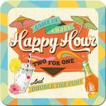 Nostalgic Art Happy Hour Tekli Bardak Altligi 9x9 cm 46128