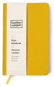 Leather & Paper Sarı Çuval Baskı Deri Defter 9x14