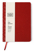 Leather & Paper Kırmızı Yılan Baskı Deri Defter 12x17