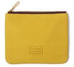 Leather & Paper Sarı Deri Mini Çanta