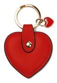 Leather & Paper Kırmızı Deri Kalp Anahtarlık