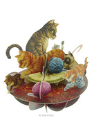Santoro Gc - Pirouettes - Cat And Kittens Ps014
