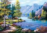 Art Puzzle Göl Evi 2000 Parça 4718
