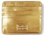 Leather & Paper Altın Deri Kredi Kartlık