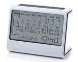 Lexon Ela Dijital Masaüstü Takvimi Beyaz LR136W