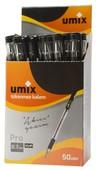 Umix Pro 0.7 mm Tükenmez Kalem Tekli Siyah U9901-07-SI