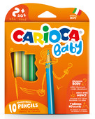 Carioca Jumbo Üçgen Bebek Kuru Boya Kalemi 10'lu 42819