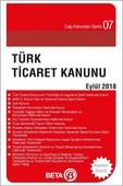 Türk Ticaret Kanunu 2018 Eylül
