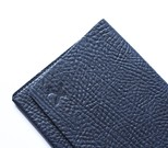 Leather & Paper Lacivert Deri Pasaport Kılıfı