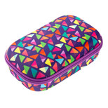 Zipit Colorz Storage Box Purple Triangles Kalemkutu