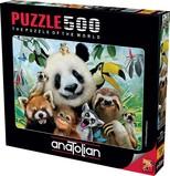 Anatolian Hayvanat Bahçesi Selfie 500 Parça Puzzle (3596)