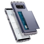 Spigen Galaxy Note 8 Kılıf Crystal Wallet Cüzdan Orchid Gray 587CS21848
