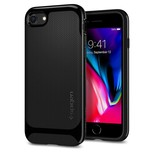 Spigen iPhone 7/8 Kılıf Neo Hybrid Herringbone Serisi Shiny - Black